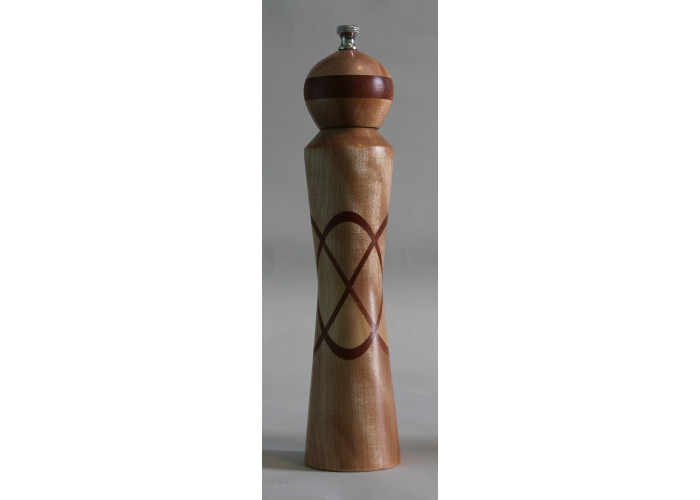 Maple Peppermill with a mahagony  X insert